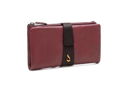Abbacino large burgundy leather wallet