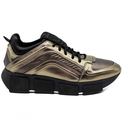 vic matie bronze leather sneaker