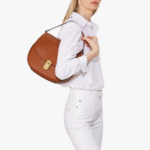 Cocccinelle-Zaniah-Tan-Leather-Shoulder-Bag-1