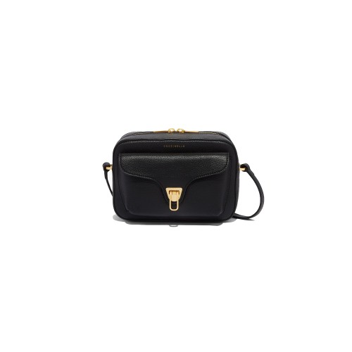 Coccinelle Beat Soft Black leather cross body bag