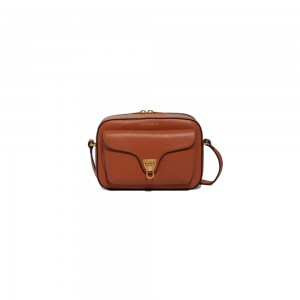 Coccinelle Beat Soft Tabac Leather Cross-body Bag