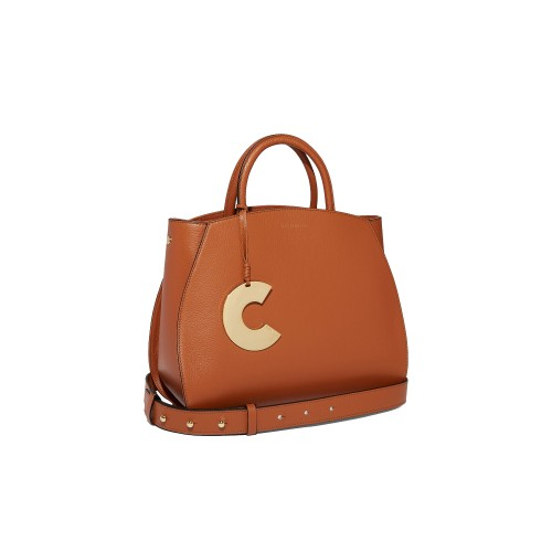 Coccinelle-concrete-Medium-Tan-Lea