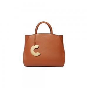 Coccinelle Concrete Medium Tan Leather Handbag