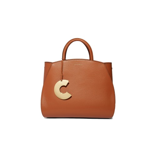 Coccinelle Concrete Medium Tan Leather Handbag