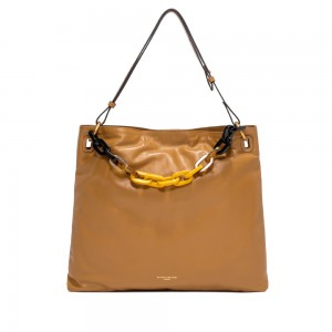 Gianni Chiarini Giuditta Tan Leather Shoulder Bag