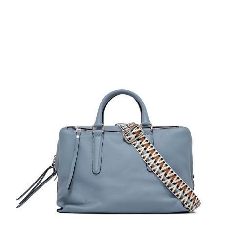 Gianni Chiarini Isabella Medium Light Blue Shoulder Bag