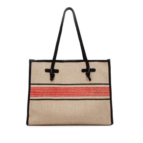 Gianni Chiarini Marcella Ghibli Medium Beige Red Shoulder Bag