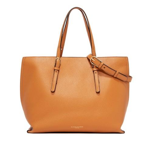 Gianni Chiarini Patricia Orange Leather Shopping Bag