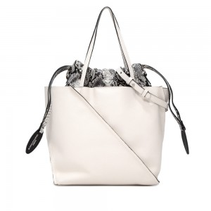 Gianni Chiarini Twist White Large Leather Bag