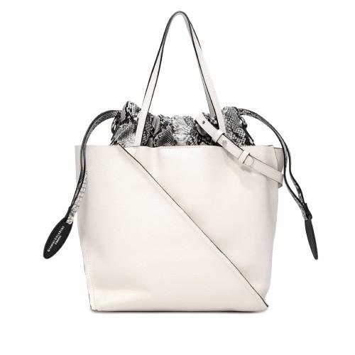 Gianni Chiarini Twist White Large Leather Bag