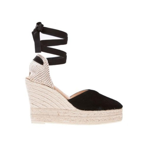 Manebi Hamptons Wedge Espadrilles Black