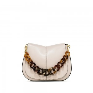 Gianni Chiarini Helena Medium white shoulder bag