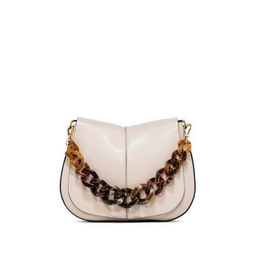 Gianni Chiarini Helena Medium white shoulder bag