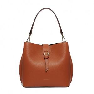 Coccinelle alba medium tan leather shoulder bag