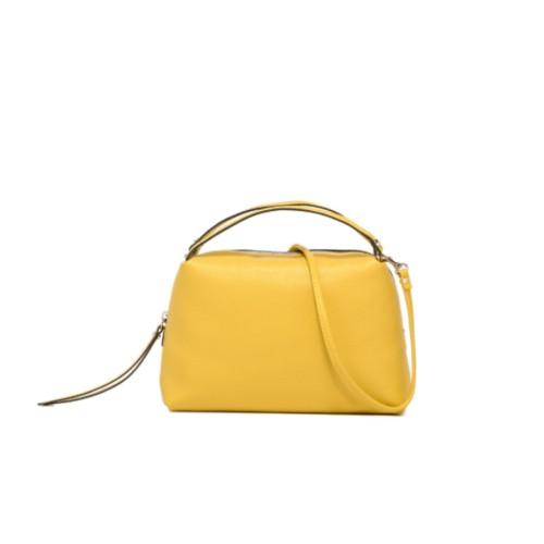 Gianni Chiarini Alifa Medium Yellow Crossbody Leather Bag