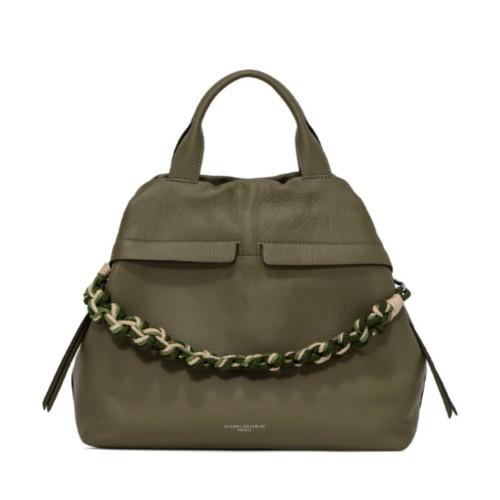 Gianni Chiarini Duna Large Green Shoulder Bag