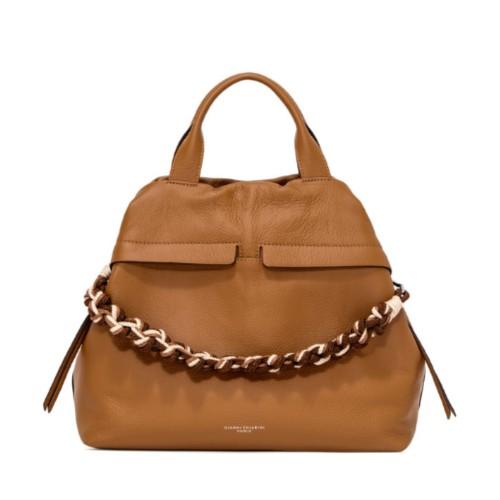 Gianni Chiarini Duna Large Tan Shoulder Bag