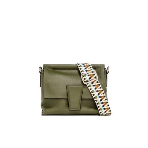 Gianni Chiarini Elettra Small Green Crossbody Bag