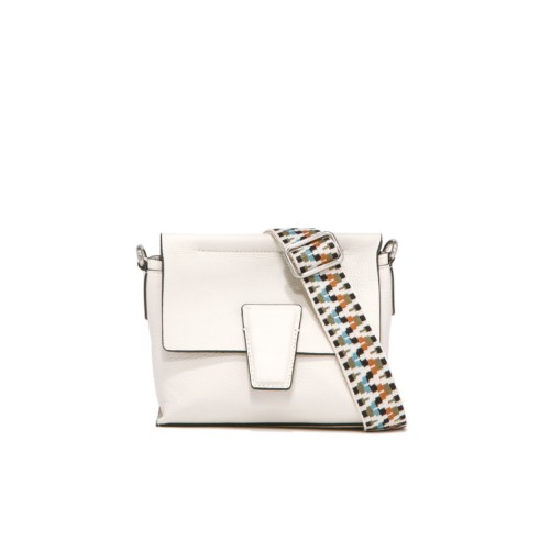 Gianni Chiarini Elettra Small White Crossbody Bag