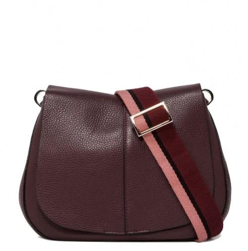 Gianni Chiarini Helena Medium Burgundy Shoulder Bag