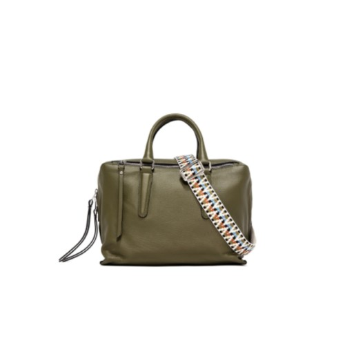 Gianni Chiarini Isabella Small Green Shoulder Bag