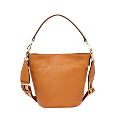 Gianni Chiarini Jacky Medium Orange Bucket Bag
