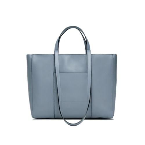 Gianni Chiarini Superlight Zip Medium Blue Shopper Bag