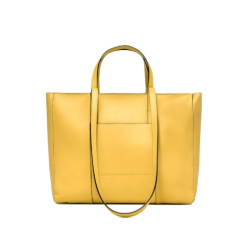 Gianni Chiarini Superlight Zip Medium Yellow Shopper Bag