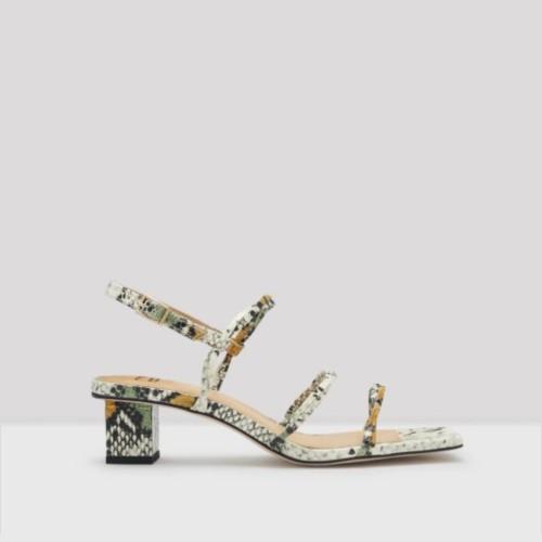 Miista E8 Zelia Snakeprint Sandals