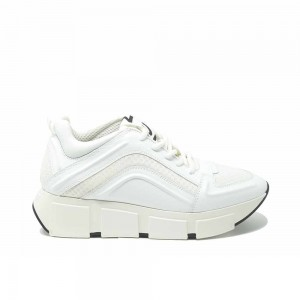 Vic Matie White Leather Sneakers