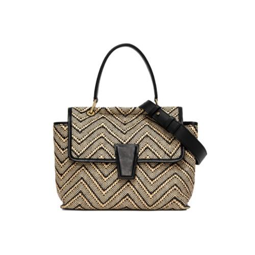 Gianni Chiarini Elettra Medium Woven Crossbody Bag