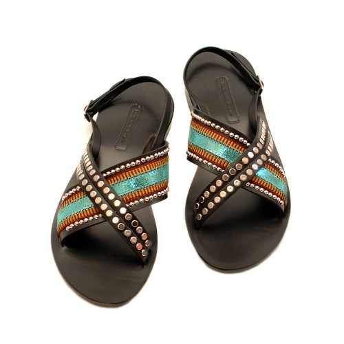 Nanni-Turquoise-Leather-Flat-Sandals-2