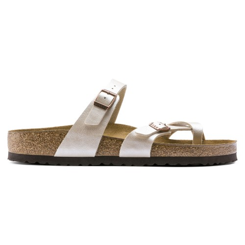 Birkenstock Mayari Graceful Pearl White Slippers