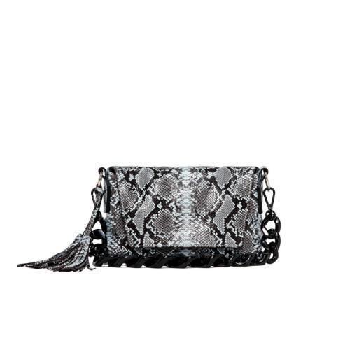 Gianni Chiarini Arica Medium Snake Print Leather Bag