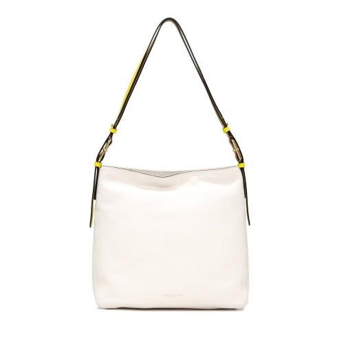 Gianni Chiarini Tania Medium White Shoulder Bag