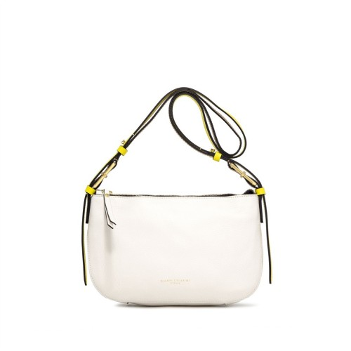 Gianni Ciarini Tania Small White Crossbody Bag