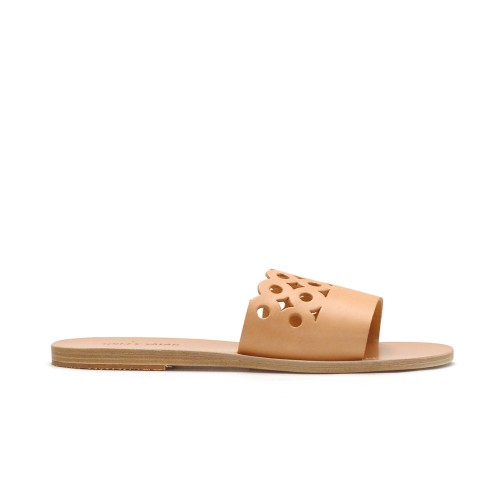Greek Salad KYMATA Natural Leather Slip Ons