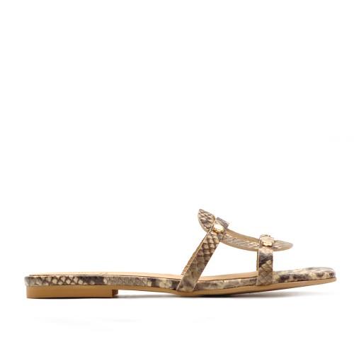 KMB Brown Roccia Flat Sandals