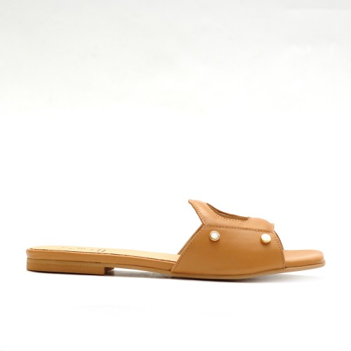 KMB Cuoio Leather Flat Sandals