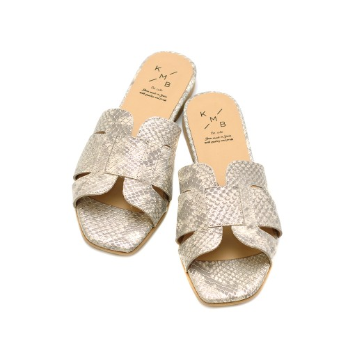KMB-Silver-Snake-Print-Leather-Sandals-2