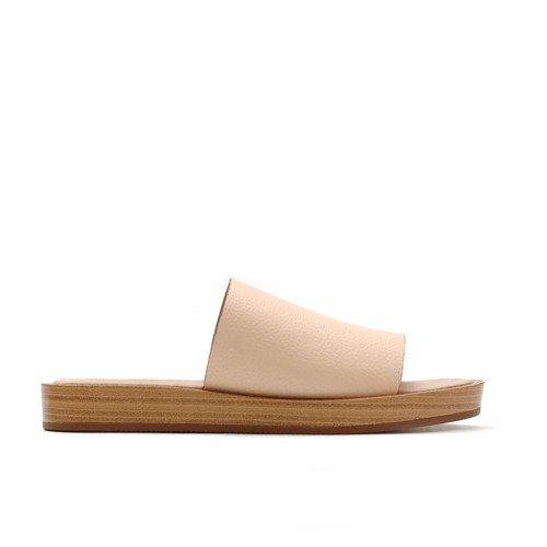 Maypol Nude Leather Slippers