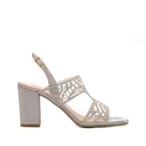 menbur giocomo silver rhinestone sandals