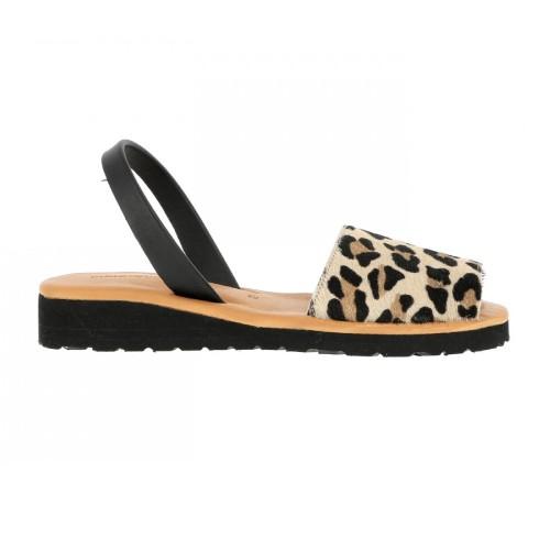 minorquines avarca platja leopard sandals