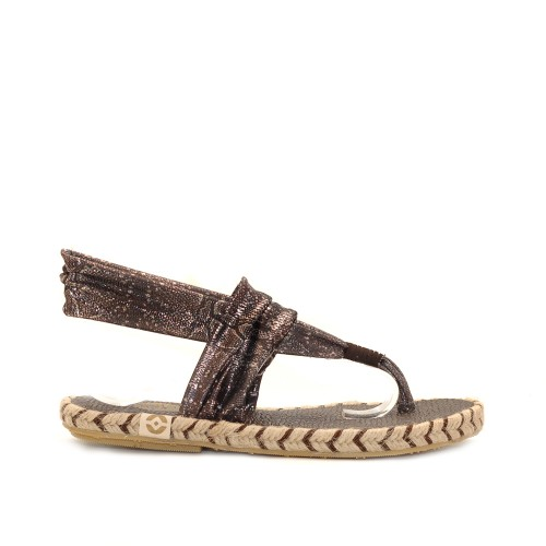 Nalho Brown Elastic Band Soft Sole Sandals