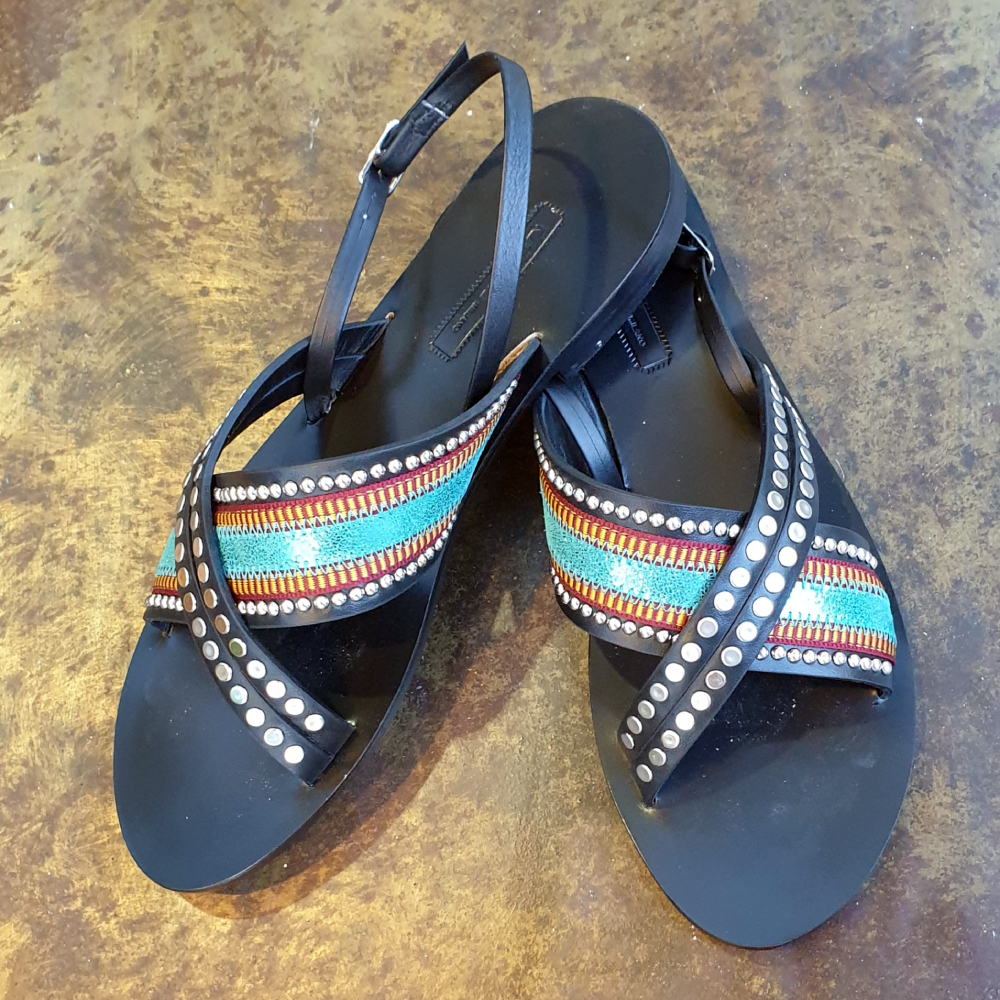 Nanni-Turquoise-Leather-Flat-Sandals-4
