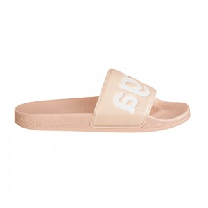 Superga 1908 Pink Skin White Slides