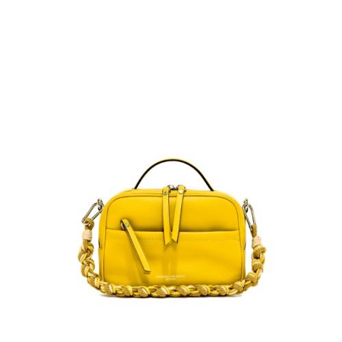 Gianni Chiarini Rally Yellow Crossbody Leather Bag