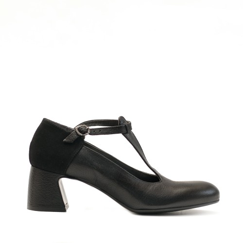 Lilimill Black Mid Heel Shoes