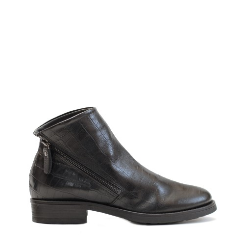 Lilimill Crocco Print Black Ankle Boots