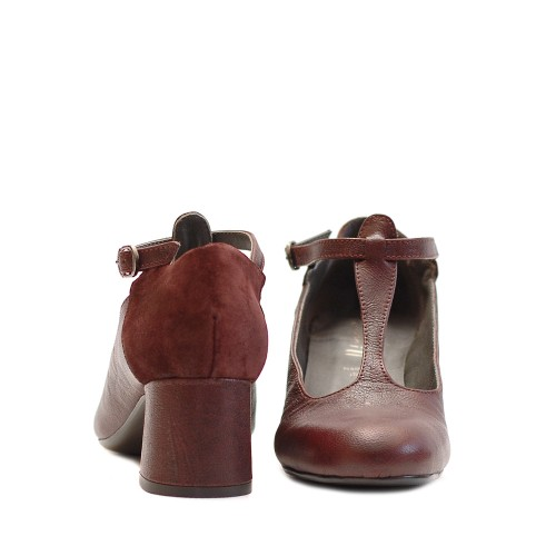 Lilimill Magenta Mid Heel Shoes 2